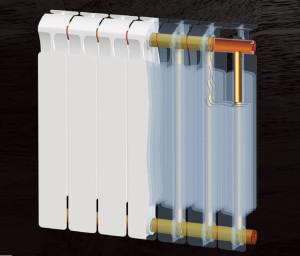 bimetalicheskiy radiator razrez_биметаллический радиатор
