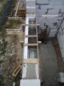 betonirovanije peremichki gazobetona_бетонирование перемычки для газобетона