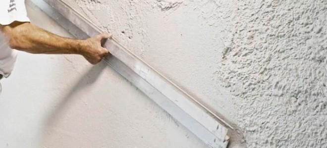 Штукатурка стен гипсовой штукатуркой